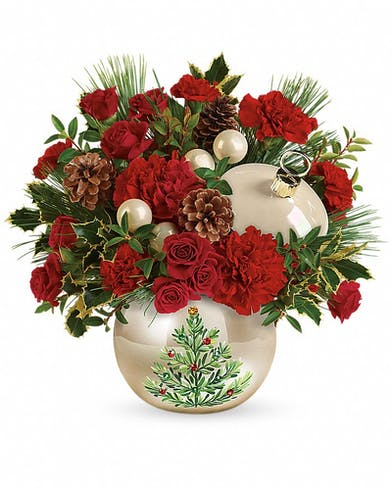 Classic Pearl Ornament Bouquet - Marco Island Florist