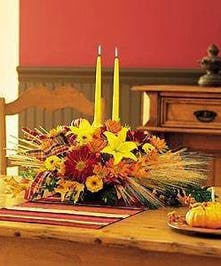 Traditional centerpiece & candles included!