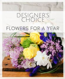 Designer's Choice Flowers for a Year