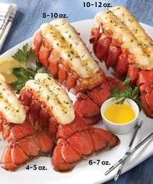 Four 6-7 OZ. Main Lobster Tails