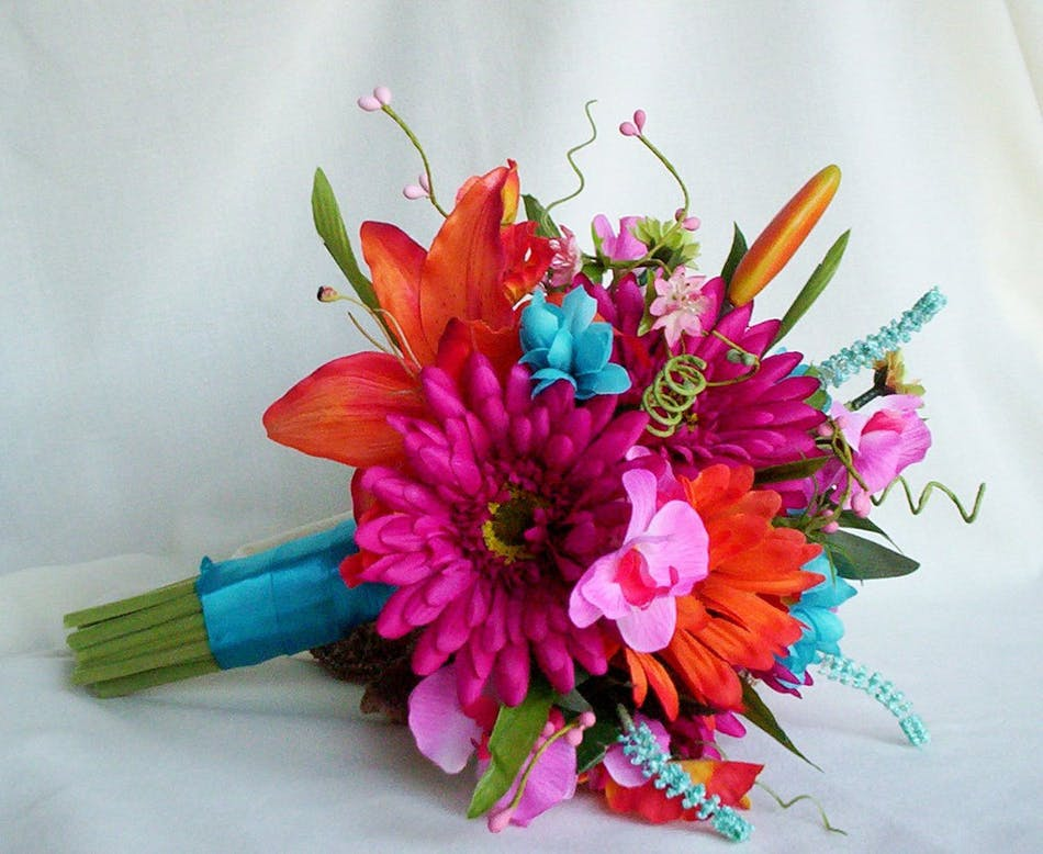 Stand Out Bold Bouquet - Prom Flowers Marco Island